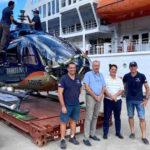 Premier hélicoptère arrivé à Nuku Hiva